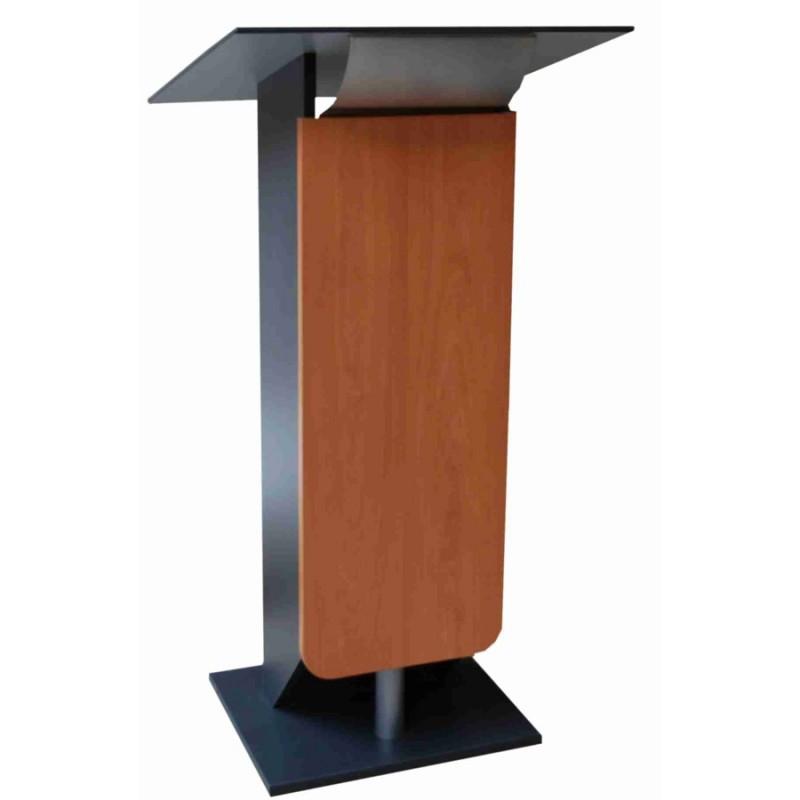 pupitre orateur pour centre de conf rence salle de r union s minaire merisier. Black Bedroom Furniture Sets. Home Design Ideas