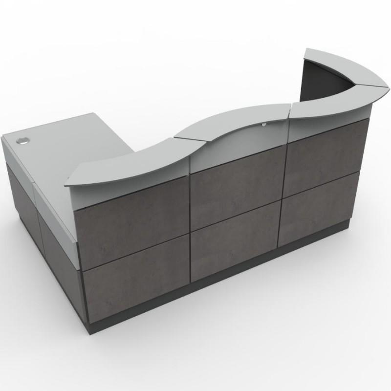 comptoir d 39 accueil au design moderne pour entreprise. Black Bedroom Furniture Sets. Home Design Ideas