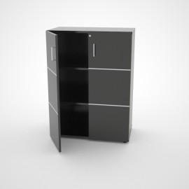 meuble blanc de rangement pour bureau ferm avec serrure etag re amovible. Black Bedroom Furniture Sets. Home Design Ideas