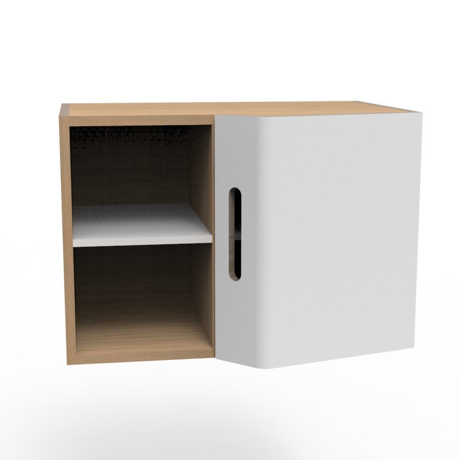 Meuble de bureau machine a caf design scandinave Agencement cuisine meuble haut 40 cm hauteur