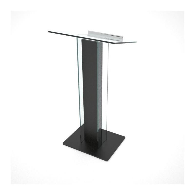pupitre de conf rence pythagore en plexi et bois design couleur noir. Black Bedroom Furniture Sets. Home Design Ideas