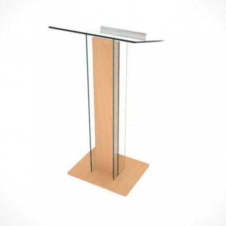 pupitre plexiglas et bois pour conf rence avec tablette inclin e. Black Bedroom Furniture Sets. Home Design Ideas