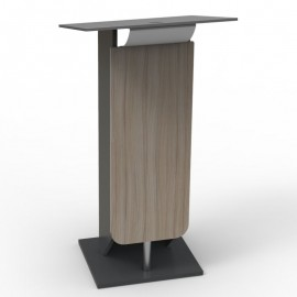 Pupitre discours driftwood design et métal léger livré monté et disposant de rangement étagères pendant votre événement