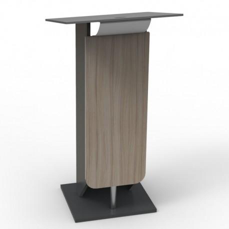 Pupitre discours bois driftwood pour discours et séminaires