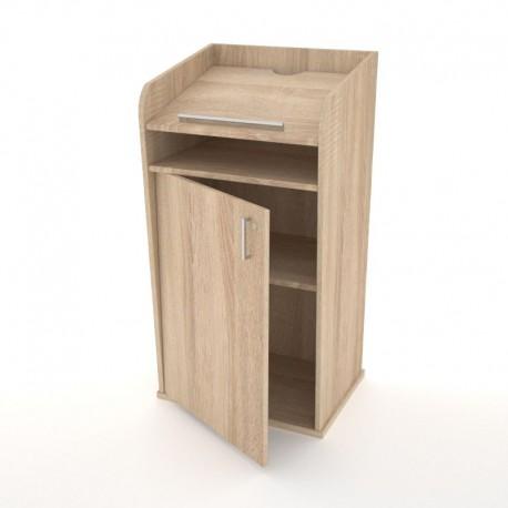 Pupitre en bois de conférence avec serrure à clé pour discours / réunion