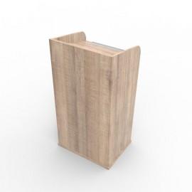 Pupitre de conférence bois coloris chêne clair fabriqué en France et qualité professionnelle qui est livré monté en entreprise