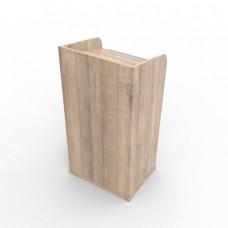 Pupitre de conférence bois avec écritoire incliné |Lutrin livré Monté