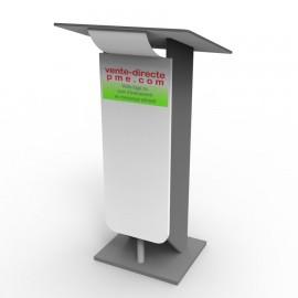 Marquage adhésif pour pupitre de conférence et lutrin. Logo, sticker évènement
