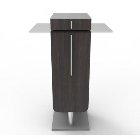 Meuble pour machine à café design wengé avec plateau inox taille XL