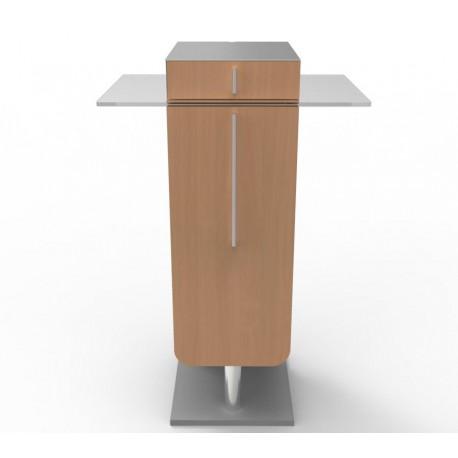 Meuble machine a cafe bois pour cafetière grande taille - livré monté