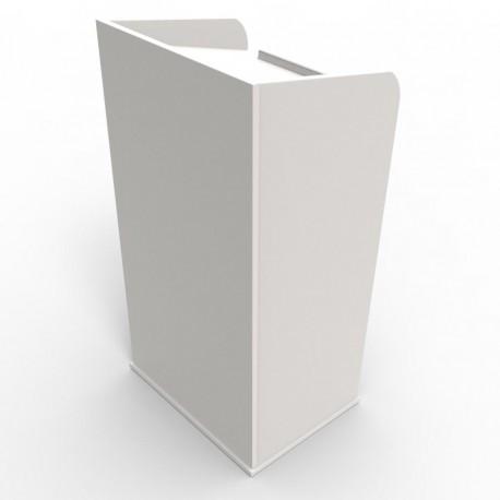 Pupitre présentation en bois blanc Livré monté et fabriqué en France