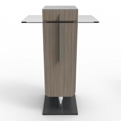 Meuble machine à café bois et verre pour CHR & écoles