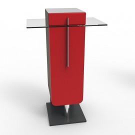Meuble machine à café bois de couleur rouge qui convient pour des cafetières à dosettes ou cafetières traditionnelles