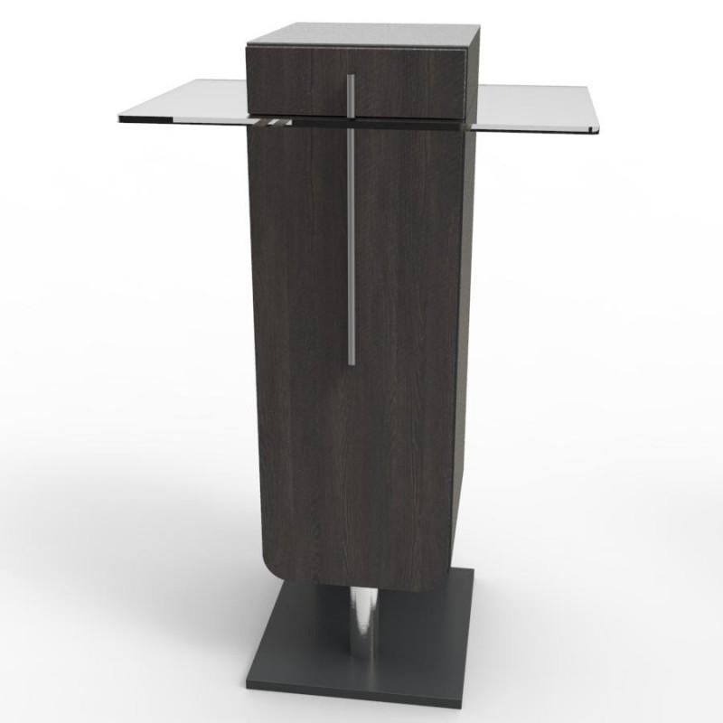 meuble pour machine caf en bois avec plateau inox et. Black Bedroom Furniture Sets. Home Design Ideas