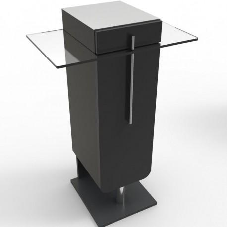 Meuble machine à café Noir design pour modèles expresso, capsules, dosette ou cafetières