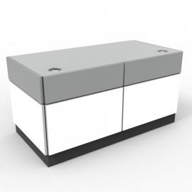 Bureau bois en blanc idéal pour des salariés d'entreprises ou de collectivités, meuble bureau livré en kit dans votre mairie