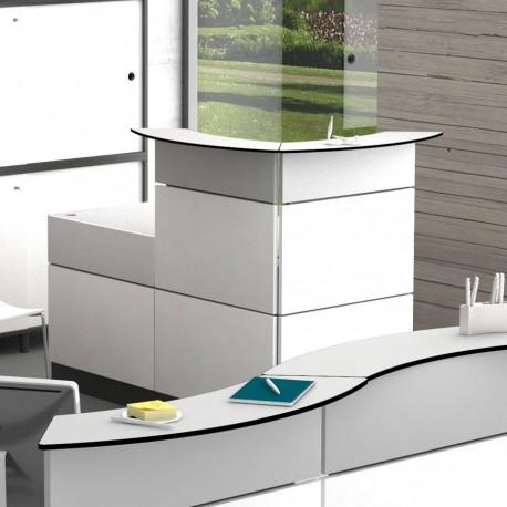 Borne d'accueil fabriquée en France, meuble accueil pour réceptionniste