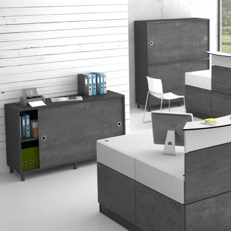 Armoire de bureau pour rangement et archivage. Meuble design pour l'accueil entreprise.