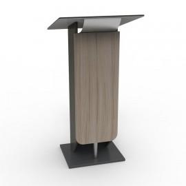 pupitre de conférence bois métal design leger moderne meuble conferencier tablette inclinée driftwood