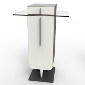 Meuble pour machine à café design en blanc avec des rangements qui sont idéals pour des entreprises et collectivités / chr