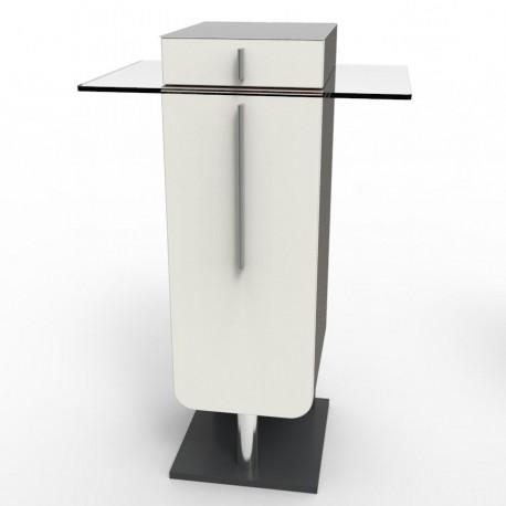 Meuble pour machine à café design bois et verre fabriqué en France