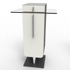 Meuble pour machine à café design bois et verre en taille XL