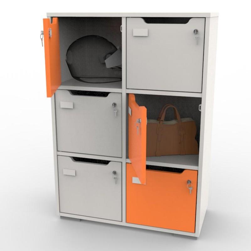 vestiaire collectif avec casiers caseo en bois et. Black Bedroom Furniture Sets. Home Design Ideas