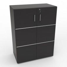 Meuble de rangement bureau avec serrure en bois et étagères de qualité