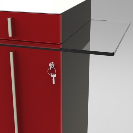 Option serrure pour meuble de machine à café | Sécurisé et qualité