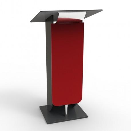 Lutrin pupitre rouge pour discours et événements d'entreprise et CHR