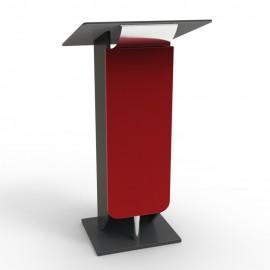 Pupitre de conférence en rouge léger pour des déplacements réguliers d'une salle d'événements à une autre salle