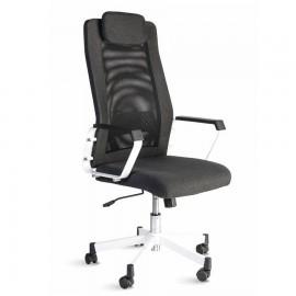 Fauteuil bureau noir qui est ergonomique et doté d'un appui-tête amovible pour votre confort en entreprise et association