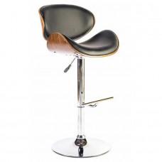 Chaise haute design avec dossier en bois pour mange debout et bureau LEYSHA