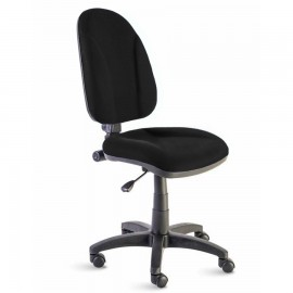 Chaise de bureau noire avec son assise et un dossier confortable qui est idéale pour espace café d'entreprise ou collectivité