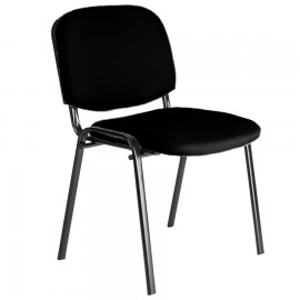Siège de bureau noir rembourré en mousse dans l'assise et le dossier pour procurer aux clients un bon confort en réunion