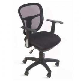 Fauteuil de bureau en tissu confortable, design et moderne pour entreprise, associations, pme, écoles noir