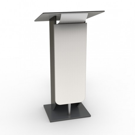 Pupitre discours en bois Design blanc pour réunions, conférences
