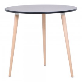 Table ronde scandinave noir design et tendance qui convient dans des salles de pause ou espaces coworking