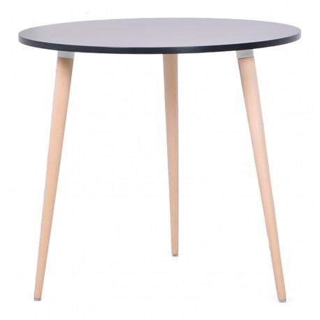 Table ronde scandinave en bois pour CHR & universités