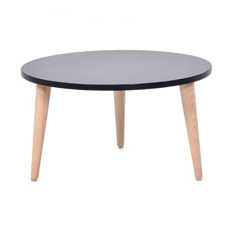 Table basse ronde bois design table d 39 appoint style - Table basse scandinave ronde ...