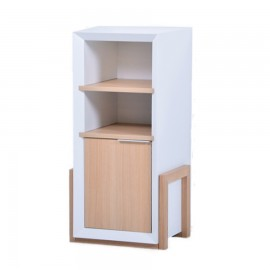 Meuble de bureau et pour machine à café et à thé design kaapi blanc bois clair