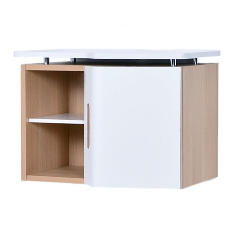 Meuble suspendu avec rangement pour machine caf for Meuble bureau suspendu