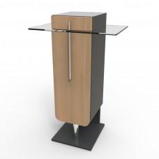 Meuble machine à café bois et verre pour entreprise ou CHR - Livré Monté