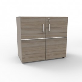 Meuble de rangement avec serrure en bois driftwood pour archivages de documents convenant pour des espaces coworking