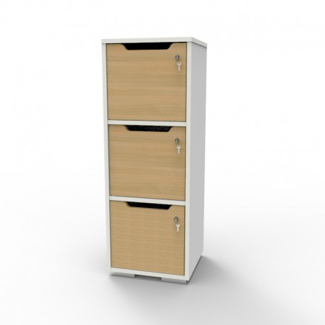 Casier vestiaire bois blanc pour entreprise et collectivité