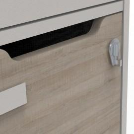 Moraillon pour cadenas à clé pour les vestiaires multicases CASEO avec 3 cases qui est disponible en plusieurs coloris
