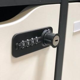 Option serrures permanentes à code et à clé convenant pour la gamme de vestiaires multicases en bois CASEO 9 cases