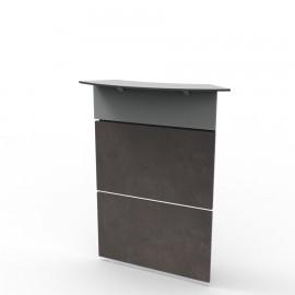 Façade haute pour bureau en bois béton fonctionnant uniquement avec les meubles de bureau bois sur Vente Directe PME