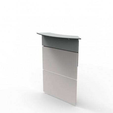 Façade haute pour bureau en bois pour entreprise et collectivité / CHR