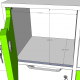 Meuble de rangement CASEO avec 6 cases gris et coloris de meuble en blanc qui convient à tous les types d'entreprise / PME